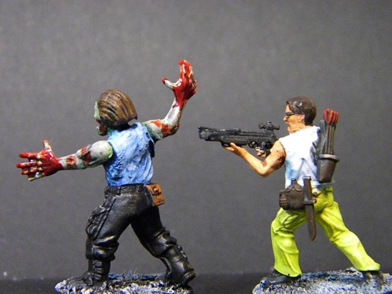 Le survivant fut offert au premier joueur qui remplissait un objectif décisif Le zombie, au premier mort de la partie ;)